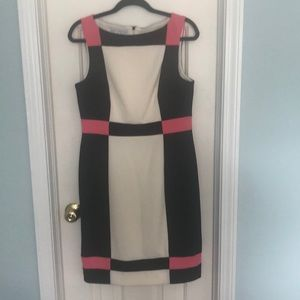 New Maggy London size 12 color block dress